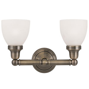 Classic Antique Brass Two Light Bath Light