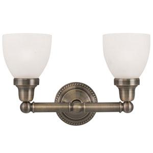 Classic Antique Brass Two Light Bath Light