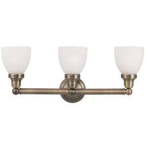 Classic Antique Brass Three Light Bath Light
