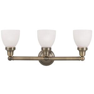 Classic Antique Brass Three Light Bath Light