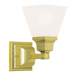 Mission Polished Brass 6-Inch One-Light Bath Light