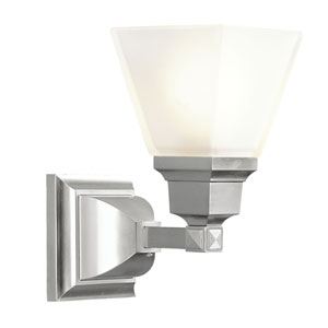 Mission Brushed Nickel One-Light Bath Fixture