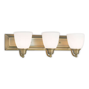 Springfield Antique Brass 24-Inch Three-Light Bath Light