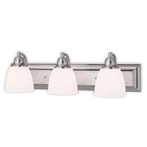Springfield Chrome 24-Inch Three-Light Bath Light