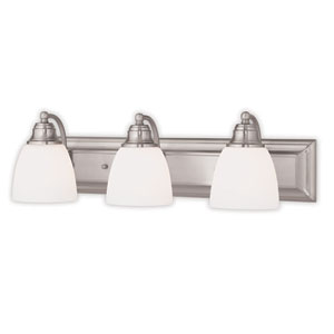Springfield Brushed Nickel Three-Light 24-Inch Bath Vanity