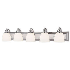 Springfield Chrome 36-Inch Five-Light Bath Light