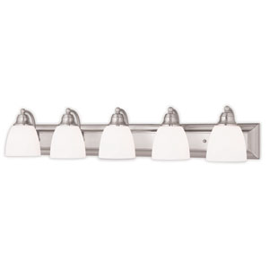 Springfield Brushed Nickel Five-Light 36-Inch Bath Vanity