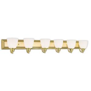 Springfield Polished Brass 48-Inch Six-Light Bath Light