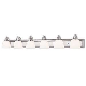 Springfield Chrome 48-Inch Six-Light Bath Light