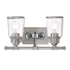 Lawrenceville Polished Chrome Two-Light Bath Vanity