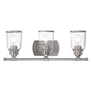Lawrenceville Polished Chrome Three-Light Bath Vanity