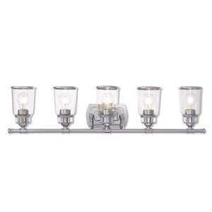 Lawrenceville Polished Chrome Five-Light Bath Vanity