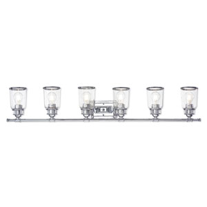 Lawrenceville Polished Chrome Six-Light Bath Vanity