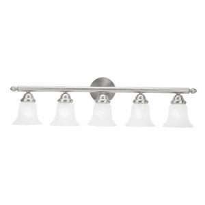 Home Basics Five-Light Brushed Nickel Bath Fixture