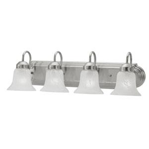 Home Basics Four-Light Brushed Nickel Bath Fixture