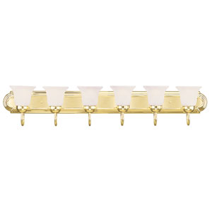 Home Basics Polished Brass Six-Light Bath Light