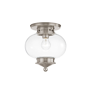 Harbor Brushed Nickel One Light Ceiling Mount