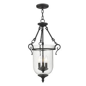 Legacy Black Three Light Chain Hung Pendant