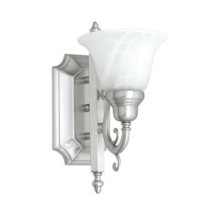 French Regency One-Light Brushed Nickel Bath Fixture