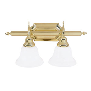 French Regency Two-Light Polished Brass Bath Fixture