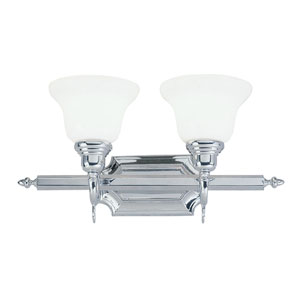 French Regency Two-Light Chrome Bath Fixture