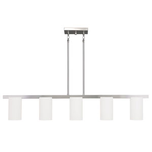 Astoria Brushed Nickel 4-Inch Five-Light Chandelier