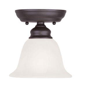 Essex Bronze 6.5-Inch One-Light Semi Flush Mount