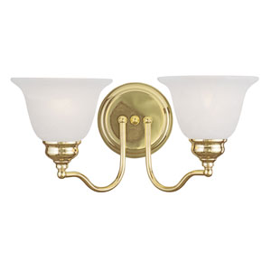 Essex Polished Brass 15.5-Inch Two-Light Bath Light