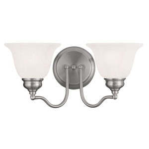 Essex Brushed Nickel 15.5-Inch Two-Light Bath Light