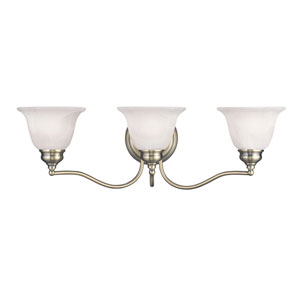 Essex Antique Brass 24-Inch Three-Light Bath Light