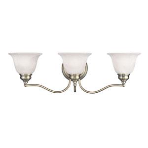 Essex Antique Brass 24-Inch Three-Light Bath Light