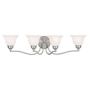 Essex Brushed Nickel 32-Inch Four-Light Bath Light