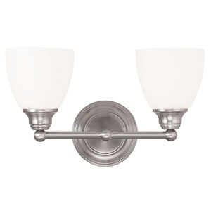 Somerville Brushed Nickel 15-Inch Two-Light Bath Light
