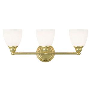 Somerville Polished Brass 23-Inch Three-Light Bath Light