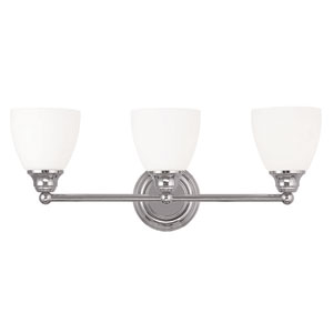 Somerville Chrome 23-Inch Three-Light Bath Light