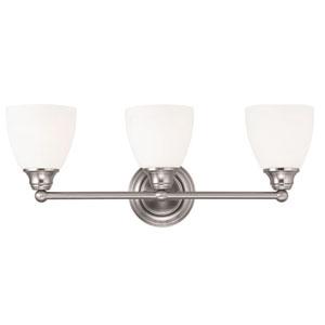 Somerville Brushed Nickel 23-Inch Three-Light Bath Light