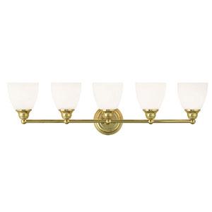 Somerville Polished Brass 34-Inch Five-Light Bath Light