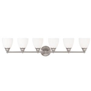 Somerville Brushed Nickel 42-Inch Six-Light Bath Light