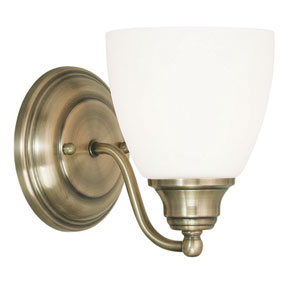 Somerville Antique Brass 5.5-Inch One-Light Bath Sconce