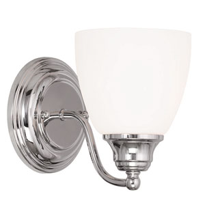 Somerville Chrome 5.5-Inch One-Light Bath Sconce