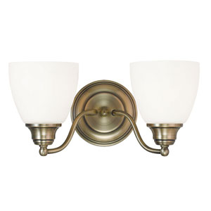 Somerville Antique Brass 15.5-Inch Two-Light Bath Light