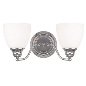 Somerville Chrome 15.5-Inch Two-Light Bath Light