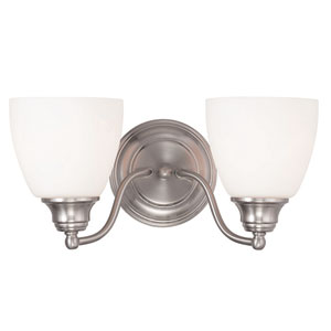 Somerville Brushed Nickel 15.5-Inch Two-Light Bath Light