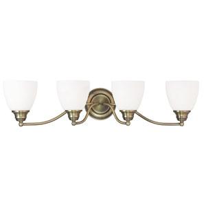 Somerville Antique Brass 30-Inch Four-Light Bath Light