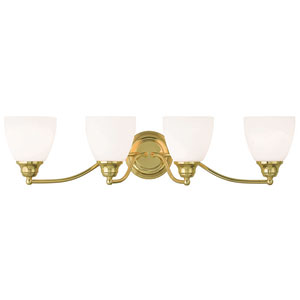 Somerville Polished Brass 30-Inch Four-Light Bath Light