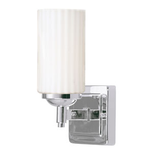 Madison Chrome 4.5-Inch One-Light Fluorescent Bath Light