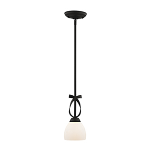 Brookside Black One Light 45-Inch Mini Pendant