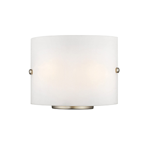 Brushed Nickel Two Light 8.75-Inch Wall Sconce