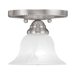 Edgemont Brushed Nickel Single Light Ceiling Mount