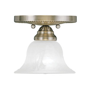 Edgemont Antique Brass Single Light Ceiling Mount